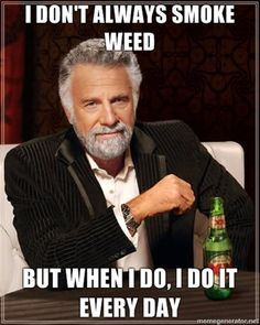 I don't always smoke weed, but when I do, I do it every day.