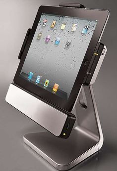 More than just an iPad stand, the Rotating iPad Dock is also a powerful stereo system that enhances your videos and apps. #iPad, #dock