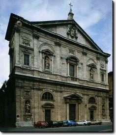 Rome Chiesa di San Luigi dei Francesi. Three Caravaggios inside. il Martirio di San Matteo, San Matteo e l'angelo e Vocazione di san Matteo.