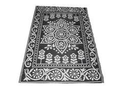Buitenkleed zwart wit medium
