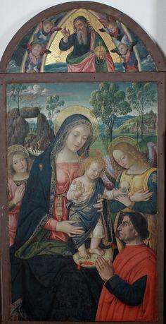Pintoricchio (Bernardino di Betto), Madonna della Pace 1495 circa tempera su tavola. Arcidiocesi di Camerino, San Severino Marche