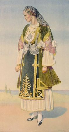 TRAVEL'IN GREECE I Peasant Woman's Costume, #Thessaly, #Almyros