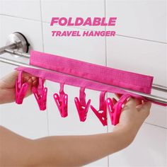 Aliexpress SYTH PM Serise Multifunctional Portable Cloth Hanger Drying Rack Foldable Bathroom Rack Travel Clothespin 6 Clip Hanger Towel on Aliexpress IFound Cloth Drying multifunctional rack Serise Travel Clothes Hanger Storage, Clothes Drying Racks, Clothes Hangers, Diy Clothes, Hanger Clips, Hanger Rack, Hook Rack, Towel Hanger, Picture Hangers