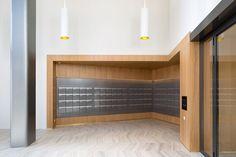 Lobby Design, Hall Design, Floor Design, Lobby Interior, Cafe Interior, Interior Design, Portal Office, Apartment Mailboxes, Locker Designs