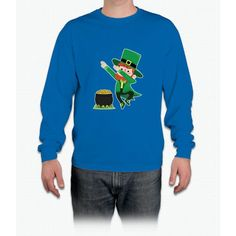 Leprechaun Dabbing around Pot of Gold for St Patrick Day T-shirt Long Sleeve T-Shirt