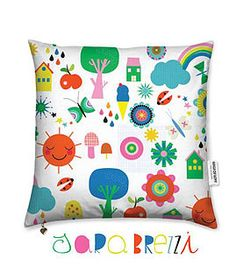 by Sara Brezzi #kindredArtCollective #Pillow #spring  #illustration #decor #colourful #playful