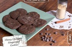 Chewy Chocolate Gingersnap Cookies Recipes, Click for Recipes