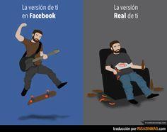La versión de ti en Facebook y la real.