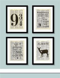 I want these for the laundry room. Subtle Harry Potter Decor