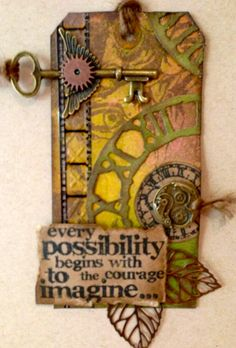 Every Possibility - Tim Holtz Inspired Tag - Scrapbook.com