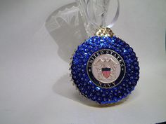 Handmade Beaded & Sequin  US Navy Christmas Ornament by sismeyer, $20.00