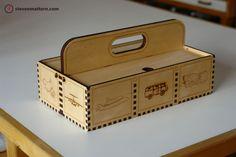 Wooden lasercut Toolbox