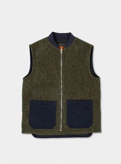 cozy fresh a7db4 e5d5b Green English Wool Gilet