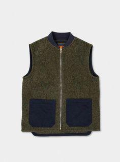 cozy fresh 96f75 0f404 Green English Wool Gilet