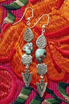 Cyan Canyon Earrings