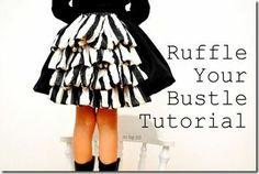 Ruffled skirt tutorial  elfsacks