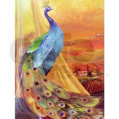 proud peacock Shower Curtain on CafePress.com