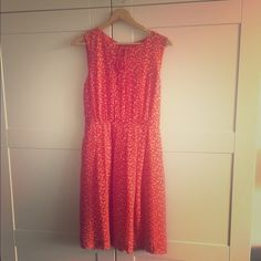 Polka dots orange summer dress Size 4 polyester 100%. Very light weight summer dress. Very nice condition Anthropologie Dresses