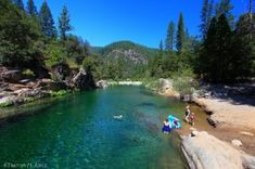 Top 4 Northern California swimming holes. This one is on the Yuba River.
