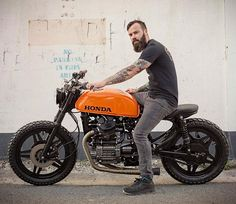 Honda Brat by Woodgates Motorcycles Cx500 Cafe Racer, Honda Scrambler, Cb 450 Cafe Racer, Honda Cx500, Cafe Racer Style, Honda Motorcycles, Cafe Racer Motorcycle, Moto Bike, Motorcycle Outfit