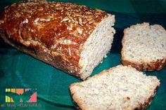 Receta de pan integral con avena y semillas