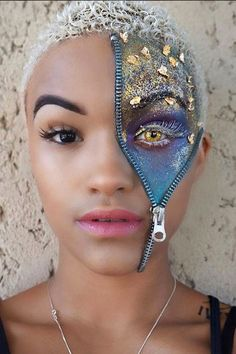 Zippered Up - 17 Scary Good Halloween Makeup Looks Spotted On Instagram