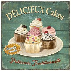 Délicieux cakes Prints by Bruno Pozzo - AllPosters.co.uk
