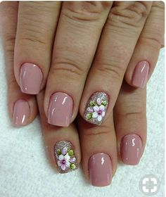 Spring Nails - 46 Best Spring Nails for 2018 - Hashtag Nail Art Pedicure Designs, Ombre Nail Designs, Nail Designs Spring, Nail Art Designs, Pedicure Ideas, Flower Nails, Beautiful Nail Art, Easy Nail Art, Simple Nails