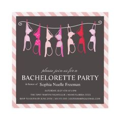LINGERIE | BACHELORETTE PARTY INVITATION by FINEandDANDY