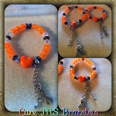 Beaded ms bracelets with charm $6.00
