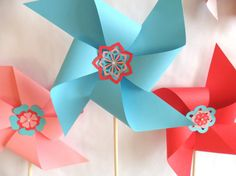I am offering Custom Complete Pinwheel Party Packages in my shop at different price points for different quantities. . . or contact me for a custom order for exactly the number you need!  Check out PartyFetti on Etsy,  this complete package has everything you need for your party at only $99.99