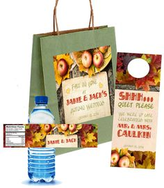 Autumn Fall in Love Wedding Welcome Bag Set by 4WeddingWelcomeBags, $70.00 for 20 sets