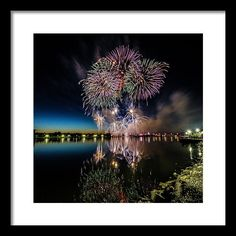Color Splash Framed Print featuring the photograph Fireworks 19 by Tom Clark