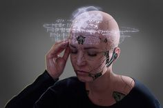 """Cyberpunk: A subgenre of science fiction in a futuristic setting that tends to focus on """"a combination of low life and high tech"""" featuring. Cyberpunk Character, Cyberpunk Art, Cyberpunk Aesthetic, Female Portrait, Female Art, Female Cyborg, Science Fiction, Ex Machina, Sci Fi Characters"""