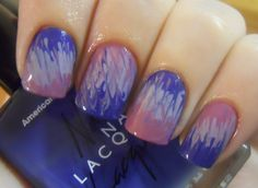 The post Holy Manicures: Purple Tie-Dye Nails. appeared first on Berable. Get Nails, Love Nails, How To Do Nails, Pretty Nails, Hair And Nails, Crazy Nails, Tie Dye Nails, Purple Nail Designs, Nail Polish Art