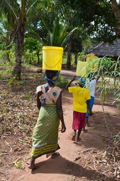 Around the world, the burden of collecting water most commonly falls to women and girls, who typically spend at least six hours a day walking to water sources and carrying 44 pounds containers over extreme distances. #water #women