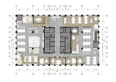 Qin group offices - chongqing - 23 office layout plan, office floor plan, o Office Layout Plan, Office Floor Plan, Floor Plan Layout, Office Layouts, Office Building Plans, Office Building Architecture, Building Design, Architecture Diagrams, Architecture Portfolio