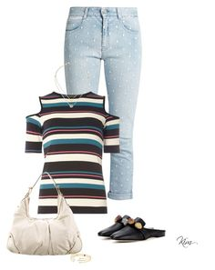 """""""Stripes"""" by ksims-1 ❤ liked on Polyvore featuring STELLA McCARTNEY, Dorothy Perkins, Christopher Kane, Gucci and Michael Kors"""