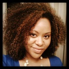 Me and my wash and go. Always love Jessica's gorgeous hair.
