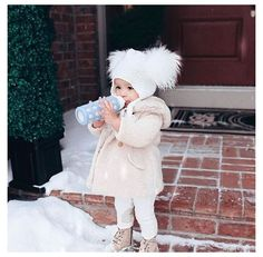 Girls Winter Outfits, Winter Baby Clothes, Baby Girl Winter, Little Girl Outfits, Little Girl Fashion, Toddler Girl Outfits, Cute Baby Clothes, Toddler Fashion, Little Girls