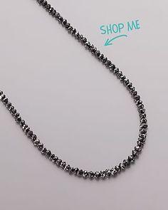 Sogni d'Oro Collier mit schwarzen Diamanten, 585er Gold von Sogni d´oro #schmuck #jewelry #Edelsteine #sognidoro #sogni #doro #kette #necklace