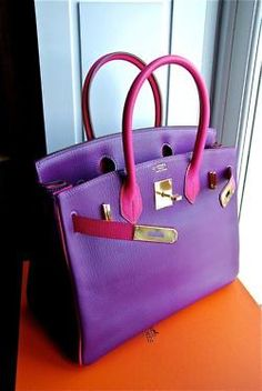 e22f80af9041 Hot pink and grape purple make a great combination for this funky handbag  Mode Blogs