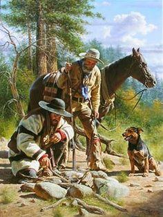 Alfredo Rodriguez, Artist Cowboy Art, Western Cowboy, Cool Paintings, Indian Paintings, Native American Art, American Indian Art, Westerns, Cowboys And Indians, Real Cowboys