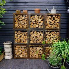 Garden Club, Terrace Garden, Firewood Holder, Firewood Storage, Diy Design, Hotel Paris, Mud Kitchen, Herb Planters, London Clubs