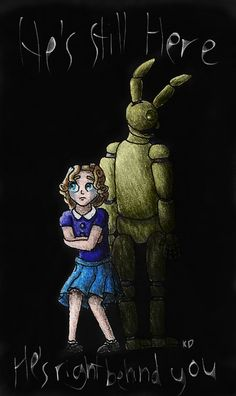 Fnaf 6 The Nightmare with The Bunny by kittycheetah14.deviantart.com on @DeviantArt