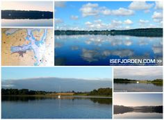 Collage with photos from Bramsnaes bay in Isefjorden - Zealand/Denmark. Anchorplace...
