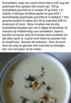 Knolselderijsoep van Jamie Oliver