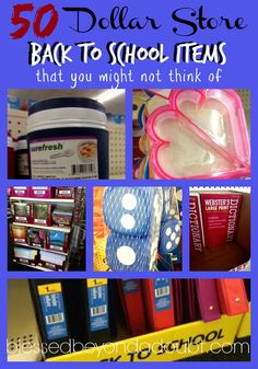 cute Back to School Supplies from the Dollar Store - Blessed Beyond A Doubt Did you know you can get cute back to school supplies at the dollar store! Look at my list of our favorite things! Back To School Organization, Back To School Hacks, Back 2 School, Back To School Supplies, Beginning Of School, New School Year, Going Back To School, First Day Of School, Classroom Organization