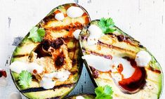 Try our easy veggie bbq grill recipes for a vegetarian BBQ. Vegetarian burgers, vegetarian skewers and BBQ sides, make one of our vegetarian BBQ recipes Easy Bbq Recipes, Kebab Recipes, Avocado Recipes, Grilling Recipes, Veggie Recipes, Grilled Avocado, Baked Avocado, Vegetarian Skewers, Shawarma Spices