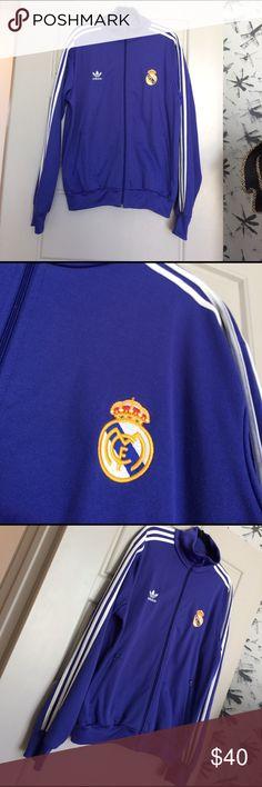 Real Madrid Adidas Jacket size XL Men's Madrid Adidas Jacket size XL worn just a few times Adidas Jackets & Coats Performance Jackets